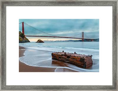 Treasure And The Golden Gate Bridge Framed Print by Sarit Sotangkur