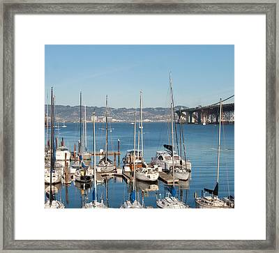 Treasure Island Marina Framed Print by Dee  Savage