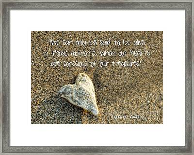 Treasured Heart Framed Print by Peggy Hughes