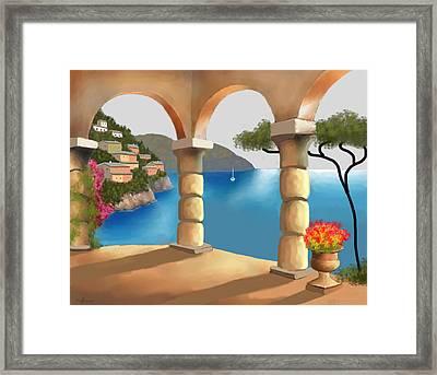 Treasures Of Amalfi Framed Print by Larry Cirigliano