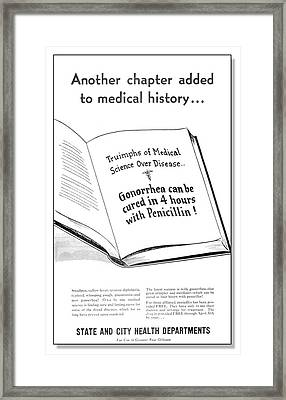 Treatment For Gonorrhoea Framed Print by Cdc