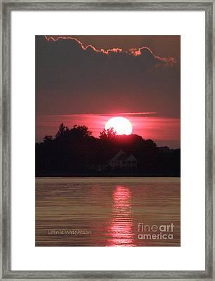 Tred Avon Sunset Framed Print by Lainie Wrightson