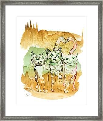 Tree Brothers  Framed Print by Anna Ewa Miarczynska