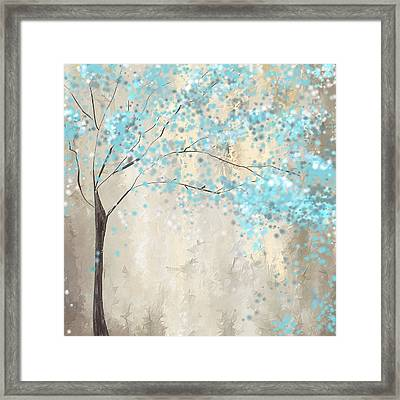 Tree Of Blues Framed Print by Lourry Legarde