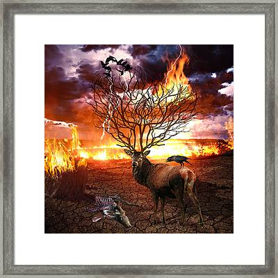 Tree Of Death Framed Print by Marian Voicu