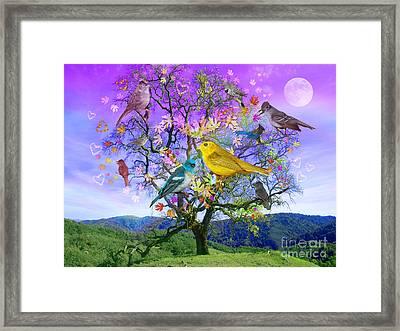 Tree Of Happiness Framed Print by Alixandra Mullins
