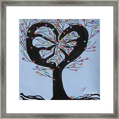Tree Of Hearts Framed Print by Marcia Weller-Wenbert