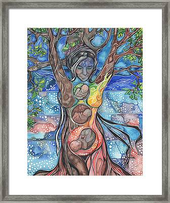 Tree Of Life - Cha Wakan Framed Print by Tamara Phillips