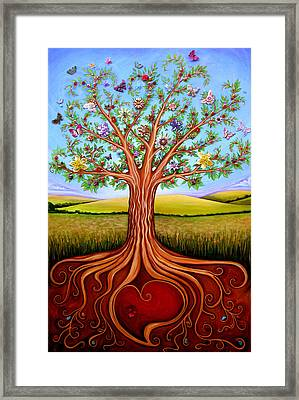 The Tree Of Life Framed Print by Claire Johnson