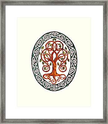 Tree Of Life Framed Print by Ellen Starr