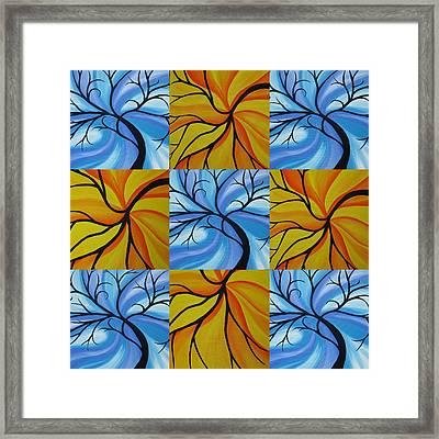 Tree Of Life Kaledoscope Framed Print by Cathy Jacobs