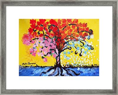 Tree Of Life Framed Print by Ramona Matei