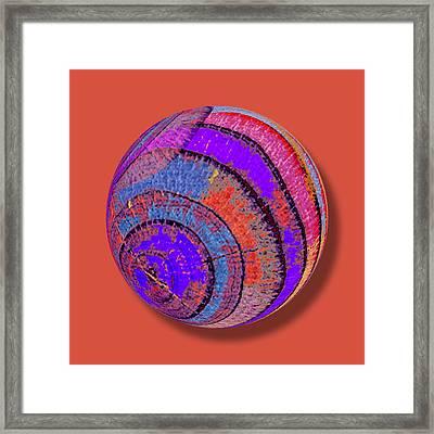 Tree Ring Abstract Orb Framed Print by Tony Rubino
