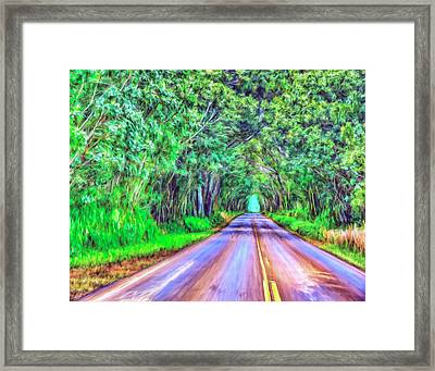 Tree Tunnel Kauai Framed Print by Dominic Piperata