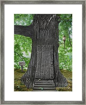 Treehouse Door Framed Print by Mike Agliolo