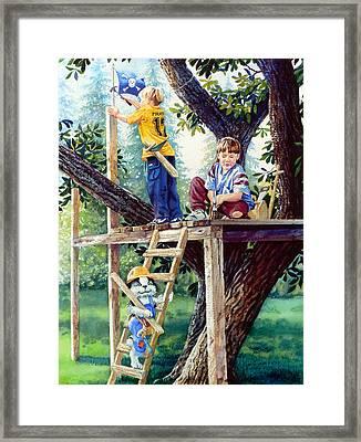 Treehouse Magic Framed Print by Hanne Lore Koehler