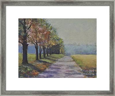 Treelined Road Framed Print by Joyce A Guariglia