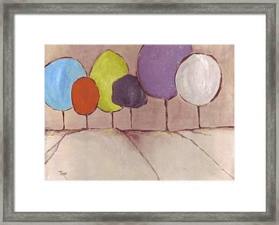 Trees-08 Framed Print by Mirko Gallery