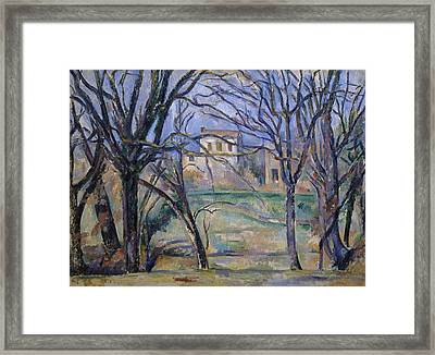 Trees And Houses, 1885-86 Framed Print by Paul Cezanne