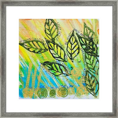 Trees And Poetry  Framed Print by Teresa St George