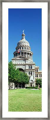 Trees In Front Of A Government Framed Print by Panoramic Images