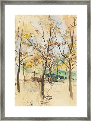 Trees In The Bois De Boulogne Framed Print by Giovanni Boldini