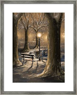 Trees Framed Print by Veronica Minozzi
