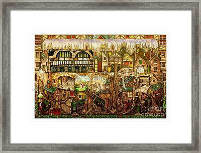 Treetown Framed Print by Colin Thompson