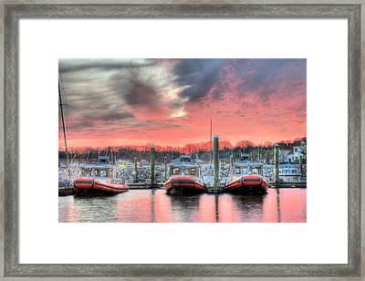 Tres Gunboats Framed Print by JC Findley