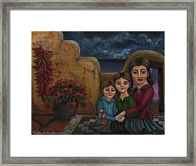 Tres Mujeres Three Women Framed Print by Victoria De Almeida