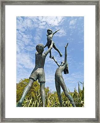 Tresco Children Framed Print by Alex Cassels