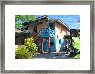 Trevas House Framed Print by Jon Delorme
