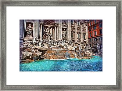 Trevi Fountain Framed Print by Hanny Heim