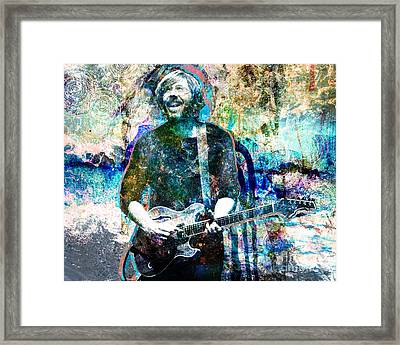 Trey Anastasio - Phish Original Painting Print Framed Print by Ryan Rock Artist