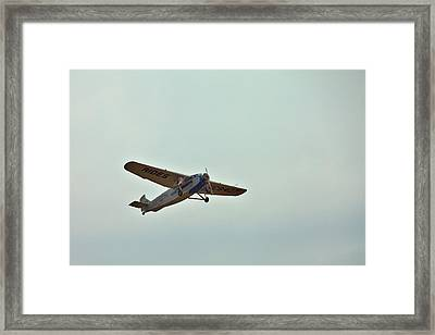 Tri-motor Overhead Framed Print by Gordon Elwell