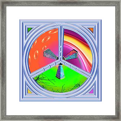 Tri-states Framed Print by Wendy J St Christopher