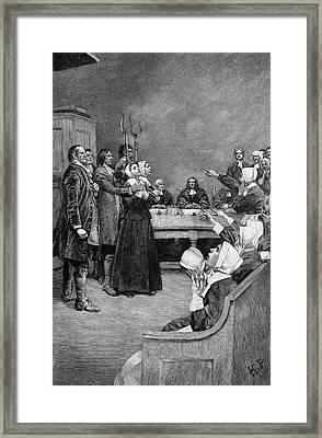 Trial Of Two Witches Framed Print by Granger