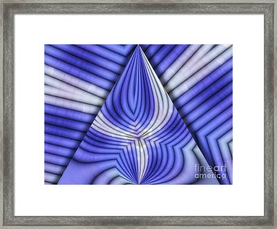 Triangle Framed Print by Mo T