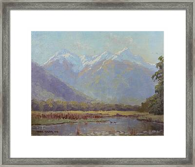 Triangle Peaks Framed Print by Terry Perham