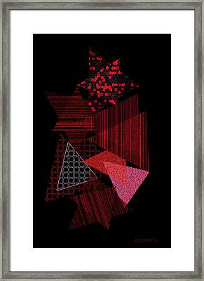 Triangles Combination Framed Print by Mario Perez
