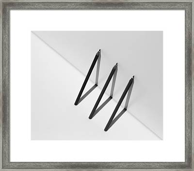 Triangles Framed Print by Jacqueline Hammer