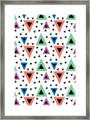 Triangular Dance Repeat Print Framed Print by Susan Claire
