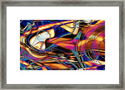 Triangulating Elements Of Other Worlds Framed Print by Kyle Wood