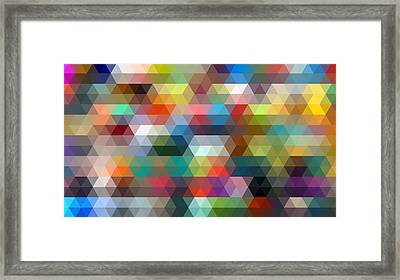 Triangulation 2 Framed Print by Taylan Apukovska