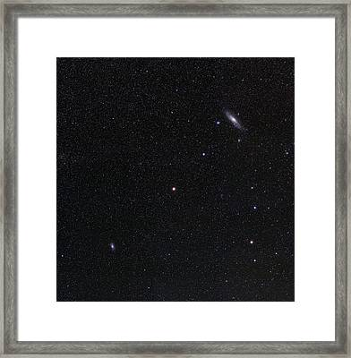 Triangulum And Andromeda Galaxies Framed Print by Eckhard Slawik