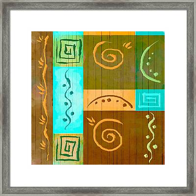 Tribal Abstract Framed Print by Brenda Bryant