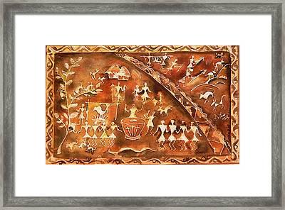 Tribal Art Framed Print by Geeta Biswas