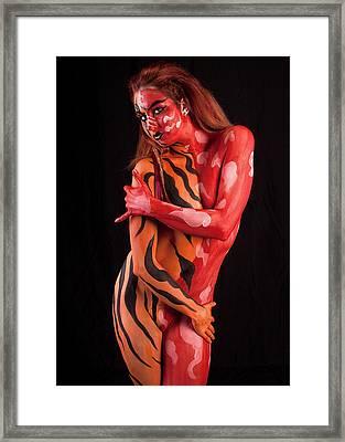 Tribal Beauty Framed Print by David April