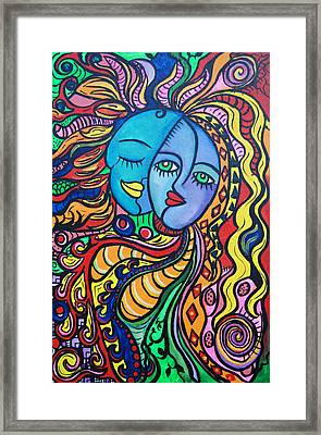 Tribal Love Framed Print by Lorinda Fore and Tony Lima