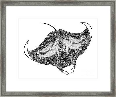 Tribal Manta Framed Print by Carol Lynne